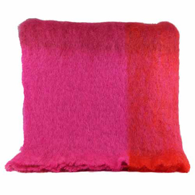 Dark red and pink Mohair Throw - M185