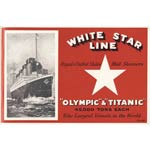 Titanic Promo Booklet Cover, Linen Union Tea Towel