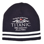 Titanic 100th Anniversary Navy Knit Hat