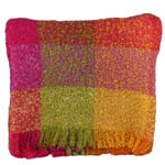 Orange and Pink Mohair Throw - UMB205