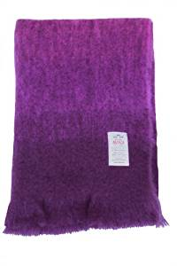 "Avoca Mohair Throw 56"" x 40"" Made in Ireland_Purple"