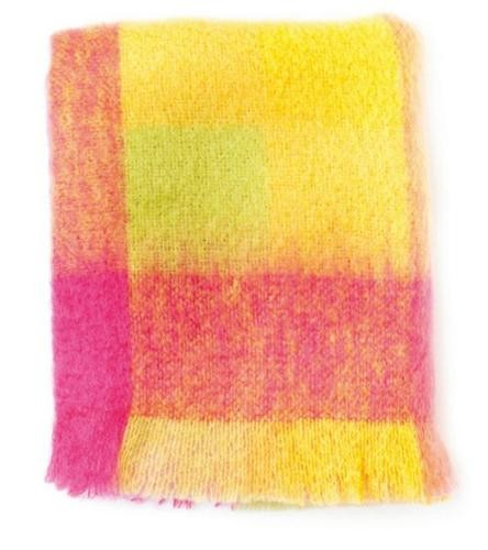 Avoca Mohair Throw - Lotus